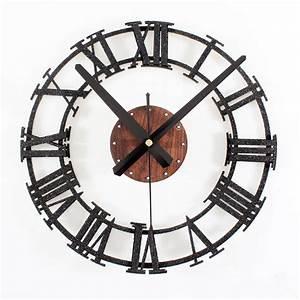 Horloge Murale Industrielle : enchanteur horloge murale industrielle avec horloge murale industrielle vintageratro ~ Teatrodelosmanantiales.com Idées de Décoration