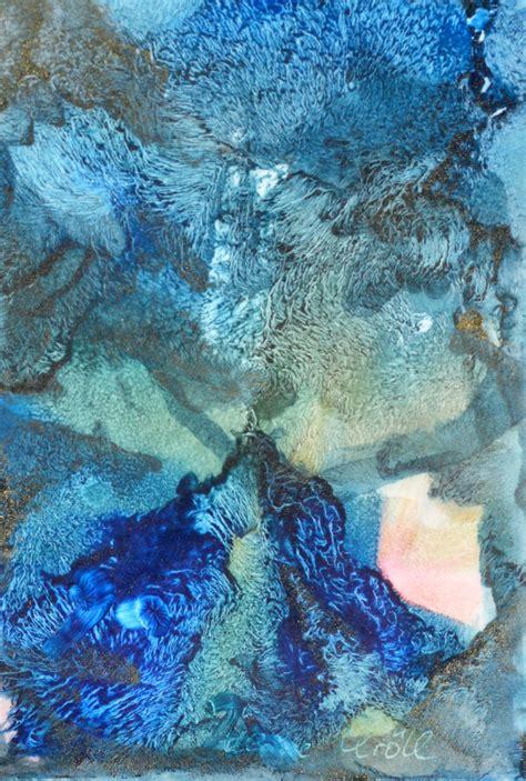 Komposition in Blau - Encaustic Foto & Bild   abstraktes ...