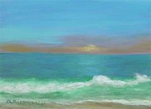 Beach Sunset Painting Amber Palomares Fine Art