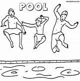 Pool Coloring Pages Print Pool4 sketch template