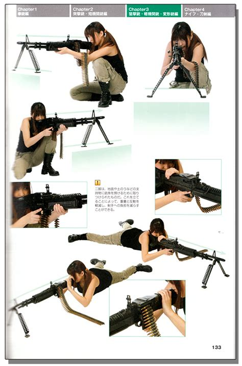 drawing gun knife combat poses style graphics reference book books