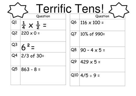 ks2 maths tests and revision year 6 sats tes