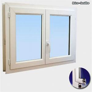 Fenetre pvc h 45 cm x l 50 cm double vitrage achat for Double porte fenetre