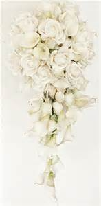 calla wedding bouquets touch white real touch calla lilies and roses cascading bouquet