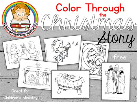 nativity bible coloring pages christian preschool 958 | ChristmasStoryColoringHeader