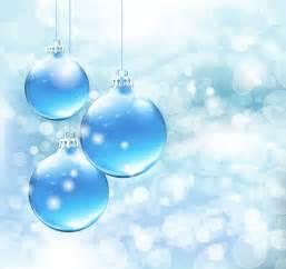Free Blue Vector Christmas Card