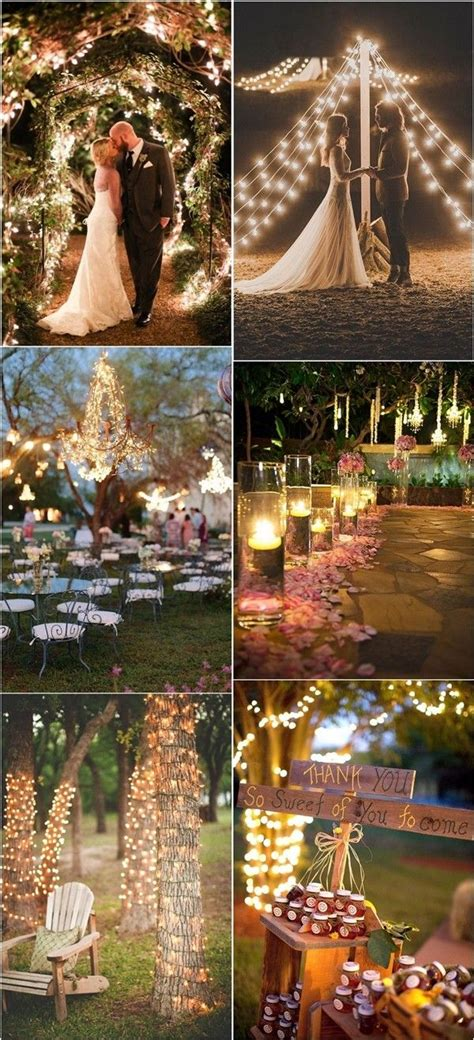 romantic  whimsical wedding lighting ideas rustic