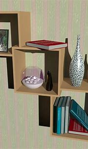 cube shelf group 3d max