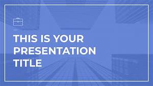 Free Presentation Template For Business  Professional And