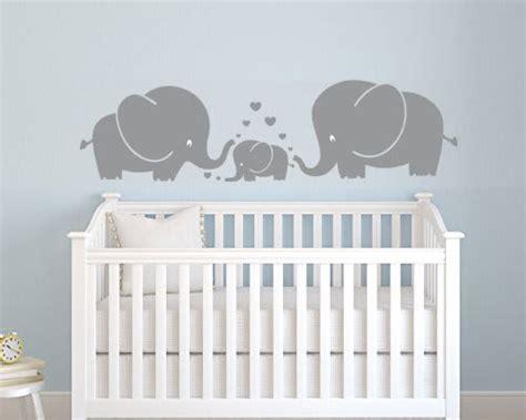 Wandtattoo Elefantenfamilie Kinderzimmer by Wall Stickers Nursery Thenurseries