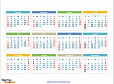Free Calendar 2017 PowerPoint Template Free PowerPoint