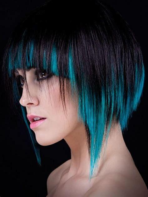 haar  schwarz und blau haarfarben frisuren