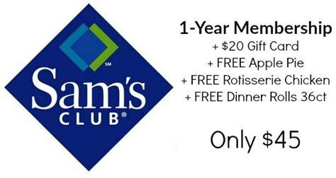 13065 Free Sams Club Membership Coupon by Sam S Club Membership 45 Free 20 Gift Card 19 94