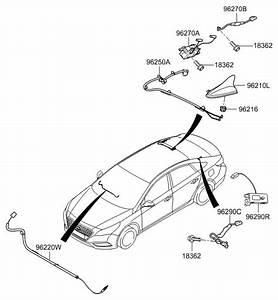2017 Hyundai Sonata Hybrid Antenna