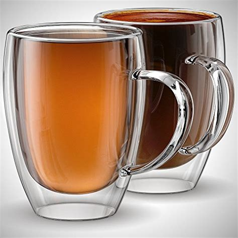 coffee cups glass insulated mugs double mug latte tea mill oz wall walled am stone espresso cappuccino ounce anchor fancy