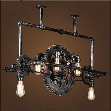 Iron Pipe Chandelier Industrial Wind gear Hanging Lamp