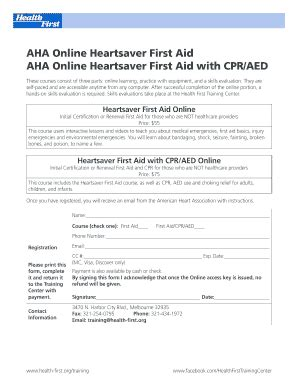 aha instructor forms aha fillable heartsaver first aid roster fill online