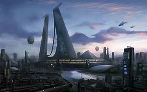 Futuristic City, Megastructure, Hideyoshi, Futuristic ...