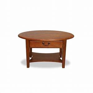 Leick furniture shaker oval coffee table in medium oak for Light oak round coffee table