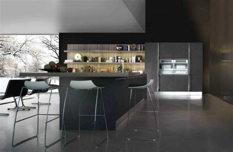 d馗o de cuisine moderne cuisine moderne gris foncé 2