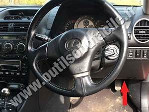 Obd2 Connector Location In Lexus Is  Xe10 Rhd   1998