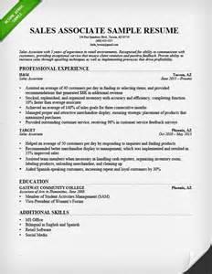 sales associate resume exles berathen