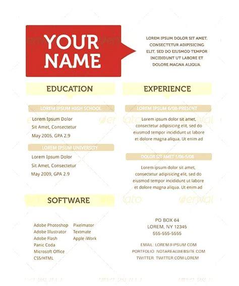 creative resume template free sles exles