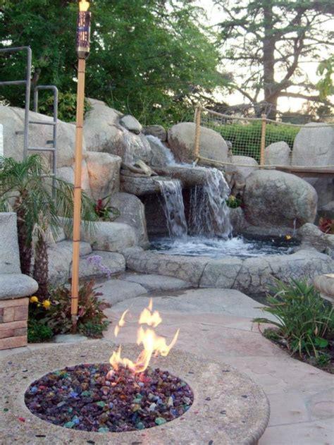 steine für feuerstelle wasserfall im garten selber bauen 99 ideen wie sie die harmonie der natur genie 223 en