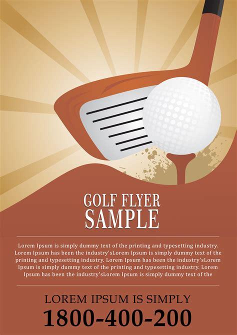 flyer template 15 free golf tournament flyer templates fundraiser charity flyers demplates