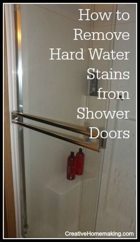 remove water stains from your shower doors with these