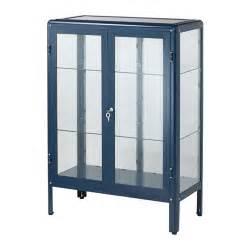 fabrik 214 r glass door cabinet blue 81x113 cm ikea