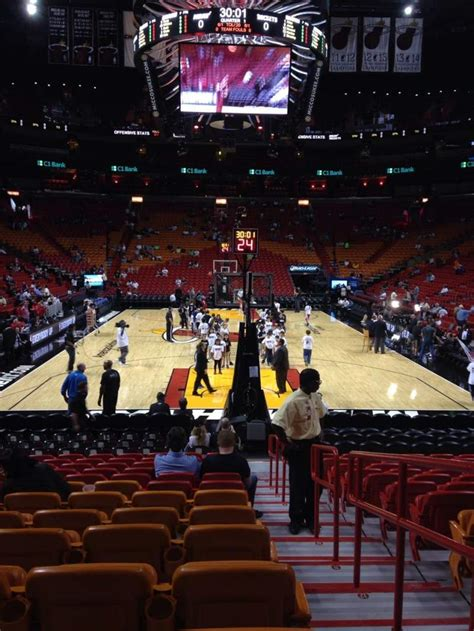 American Airlines Arena, section 101, row 16, seat 1 ...