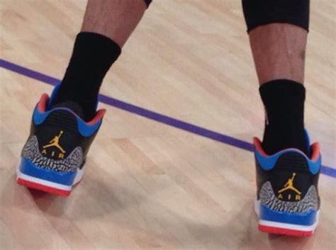 Nba Feet Russell Westbrook In Air Jordan Iii Thunder Pe