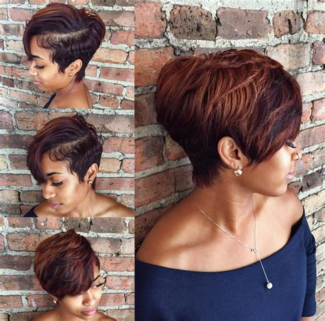 Cut Weave Hairstyles by Gorgeous Cut And Color By Stylesbykim Black Hair