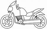 Coloring Motorcycle sketch template