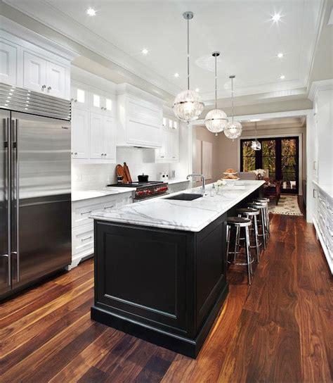 galley style kitchen with island kitchen island transitional kitchen the design