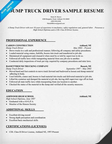sle resume for cdl truck drivers jennywashere