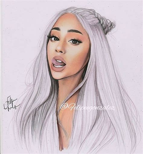 Ariana Grande Drawing At Getdrawingscom  Free For