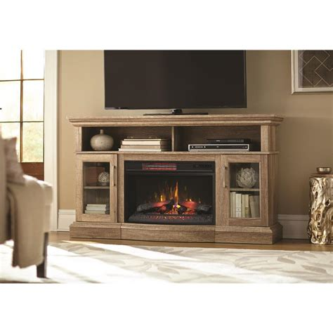 tv stands with fireplaces home decorators collection hawkings point 59 5 in rustic