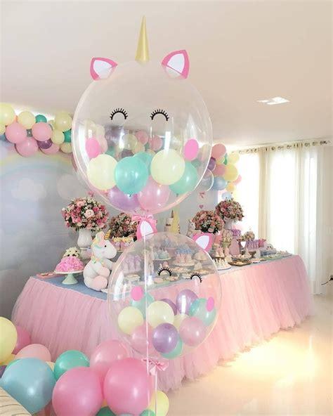 decoration anniversaire fille licorne