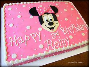Minnie Mouse Sheet Cake | cakes | Pinterest | Minnie mouse ...