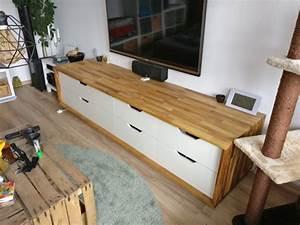 Un Long Meuble TV Partir Du Ikea STOLMEN