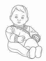 Coloring Doll American Pages Printable sketch template