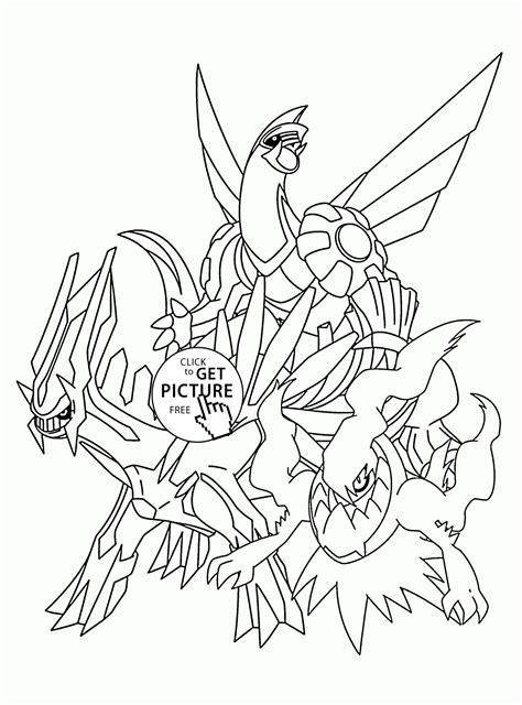 legendary pokemon coloring pages  kids pokemon
