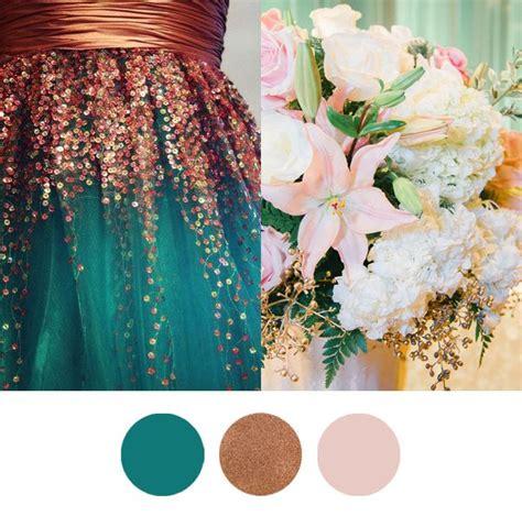farbkonzept emerald kupfer altrosa copper wedding