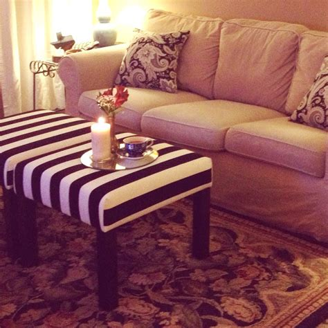 Make An Ottoman From A Coffee Table by Ikea Lack Side Tables Turned Ottomans Ikea Hackers