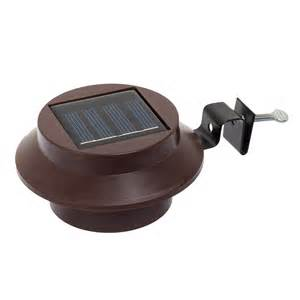 brown solar powered outdoor garden white led roof gutter light ebay