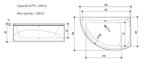 Vasca Idromassaggio Dimensioni by Vasche Idromassaggio Angolari Dimensioni Vasca