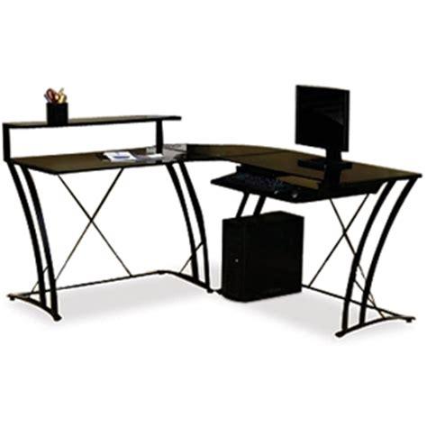 studio rta desk glass studio rta 408111 deco l shaped desk black at