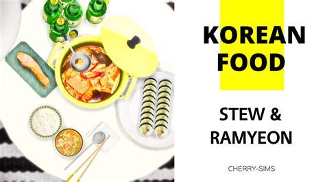 Cherry Sims Korean Food Stew Ramyeon Sims 4 Sims